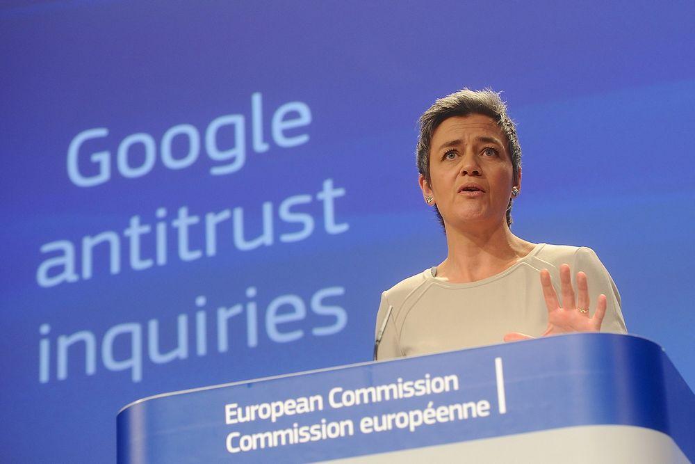Det er EU-kommisjonens konkurransekommissær, danske Margrethe Vestager, som står bak kommisjonens formelle klage mot Google.