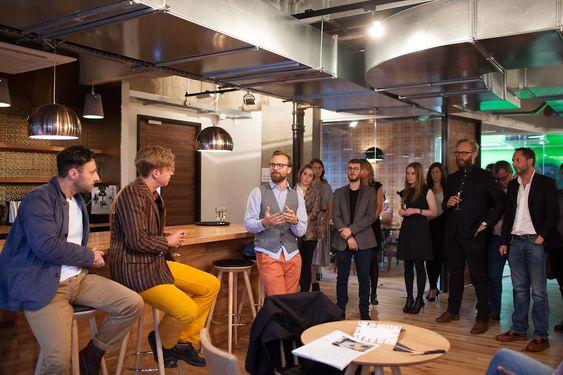 Nettverkskontor for oppstartsbedrifter i regi av IKT Norge, Oslo Business Region og Bergen, The Trampery i Old Street, Hackney, London.