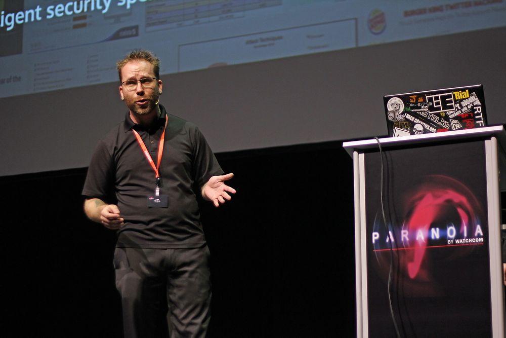 Luke McOmie var innom en rekke sikkerhetsrelaterte temaer under sitt foredrag ved Paranoia-konferansen i Oslo i forrige uke.