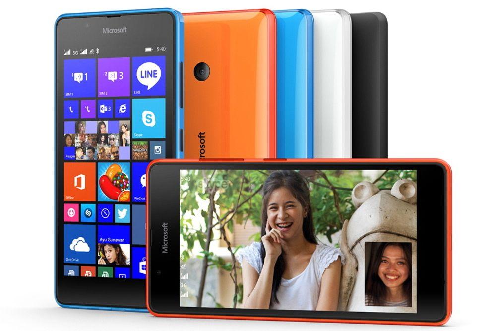 Det er de billigere variantene av Lumia som Microsoft har størst suksess med. Denne Lumia 540-utgaven kommer først i salg i mai.