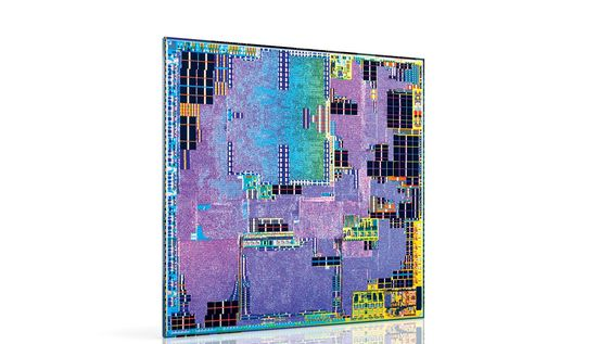 Innmaten i en Intel Atom x3 systembrikke