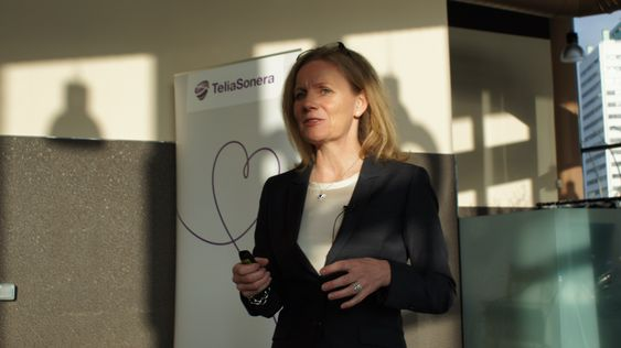 TeliaSoneras kommersielle sjef Helene Barnekow.