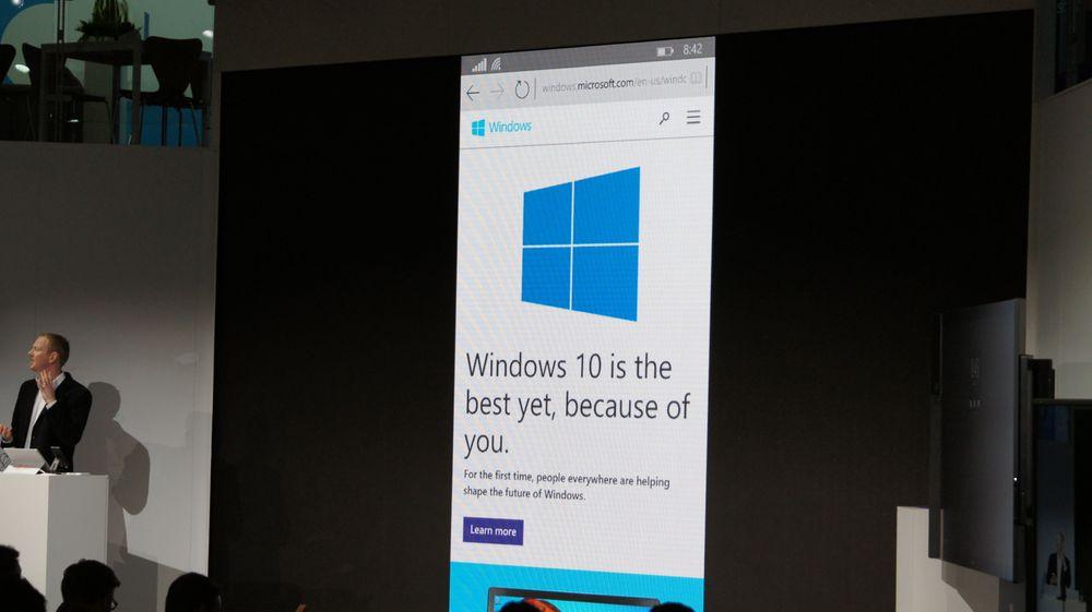 Windows 10 Mobile skal gjøre Microsoft mer relevant i smartmobilmarkedet. Men heller ikke IDC, som tidligere var veldig optimistisk på Windows Phones' vegne, tror den nye plattformen vil gjøre noen stor forskjell. På bildet vises Windows 10 Mobile med Cortana-assistenten.