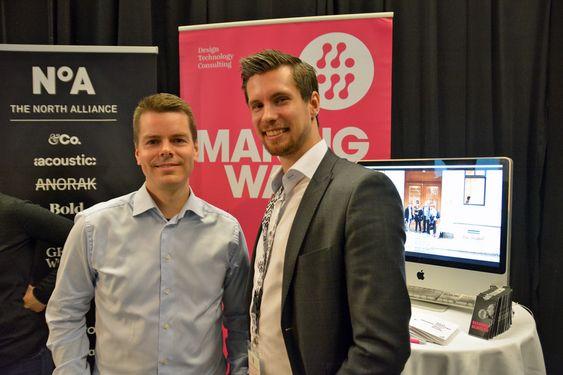 Helge Standal og Rolf Alexander Valstad i Making Waves.