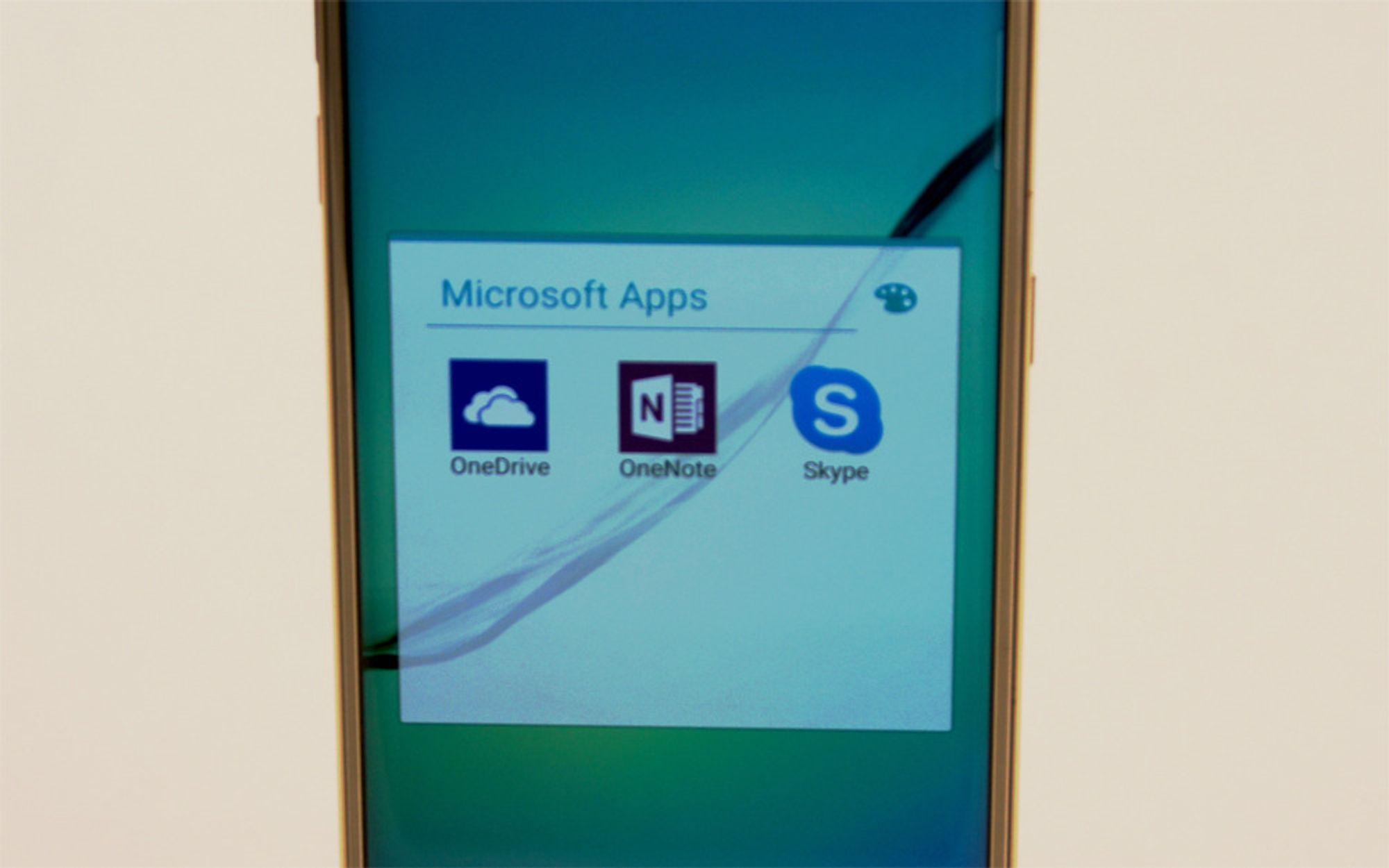Microsoft-apper kommer straks til Galaxy S6-telefonene, og etter hvert til flere Android-brett.