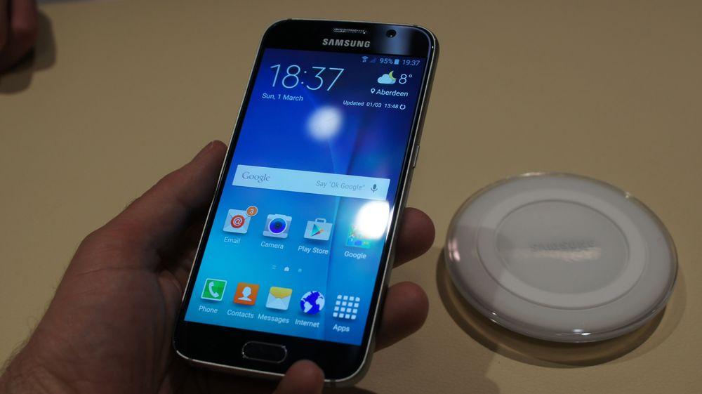 Den vanlige versjonen av Galaxy S6 har ikke buet skjerm.