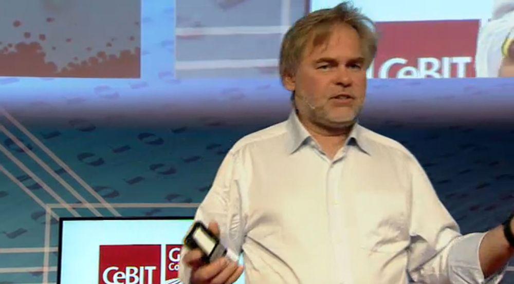 Russiske Kaspersky Lab, som tilbyr IT-sikkerhetsløsninger over hele verden, anklages for å være nær knyttet til russiske etterretningsorganisasjoner. Bildet viser Eugene Kaspersky, gründer og leder for selskapet, under CeBIT 2014.