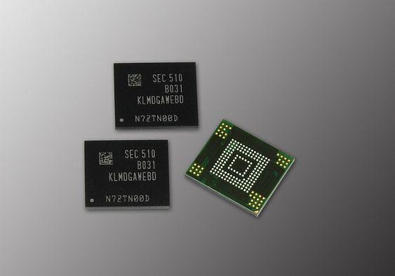 Samsung 128 GB 3-bit eMMC 5.0 flashminnebrikker.