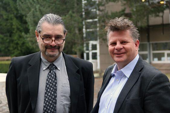 Henrik Thorsen og Frode Reien ved IBM