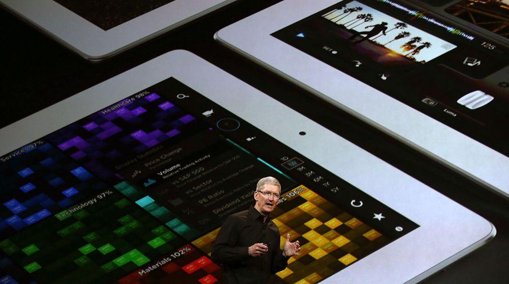 Ryktene har svirret om en forvokst 12,9-tommers iPad lenge. Nå skriver både Wall Street Journal og Bloomberg at planlagt produksjonsstart er utsatt til høsten.