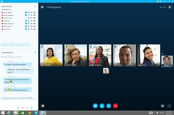 Skype for Business.