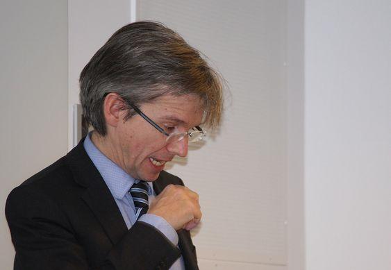Paul Chaffey møter it-selskaper og repr for offentlig sektor hos Oracle i regi av IKT Norge.