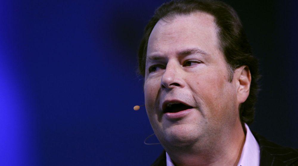 Salesforce-gründer Marc Benioff hevder Oracle føler seg truet av dem.