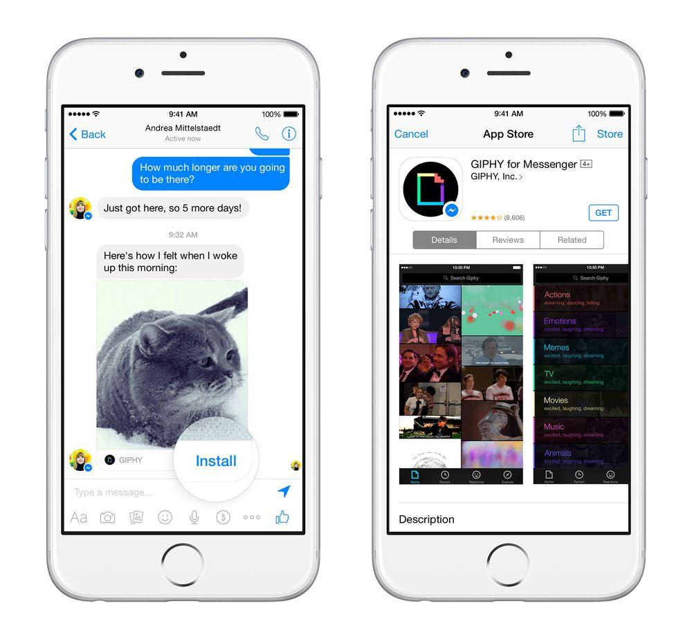 Man kan vente seg mer innhold i chatte-applikasjonen.