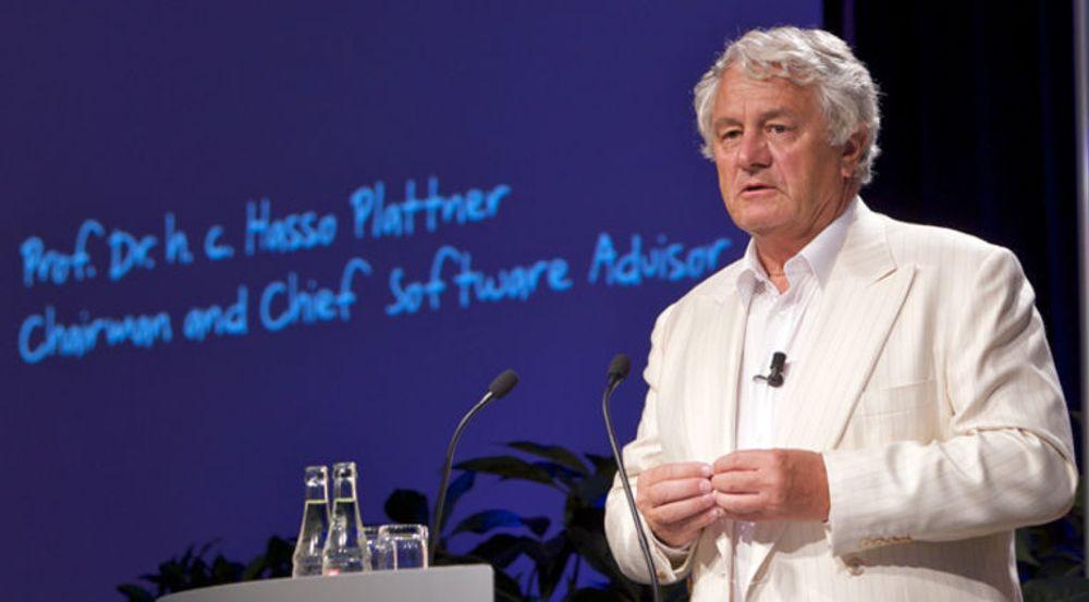 Styreleder og medgründer Hasso Plattner har vært drivkraften i SAPs satsing på «in memory»-plattformen HANA.