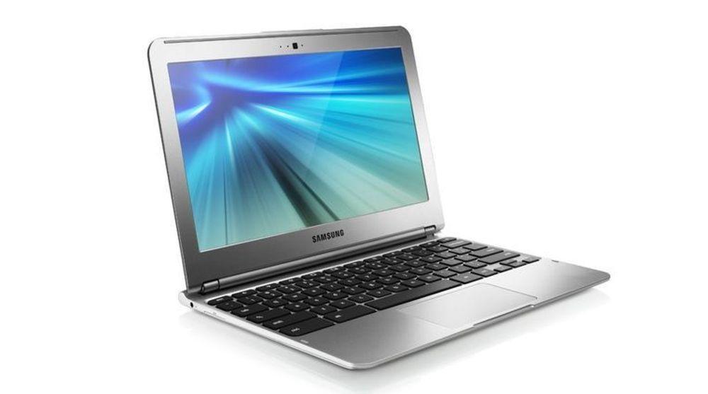 Samsung Chromebook har ARM-prosessor og kjører Google ChromeOS.