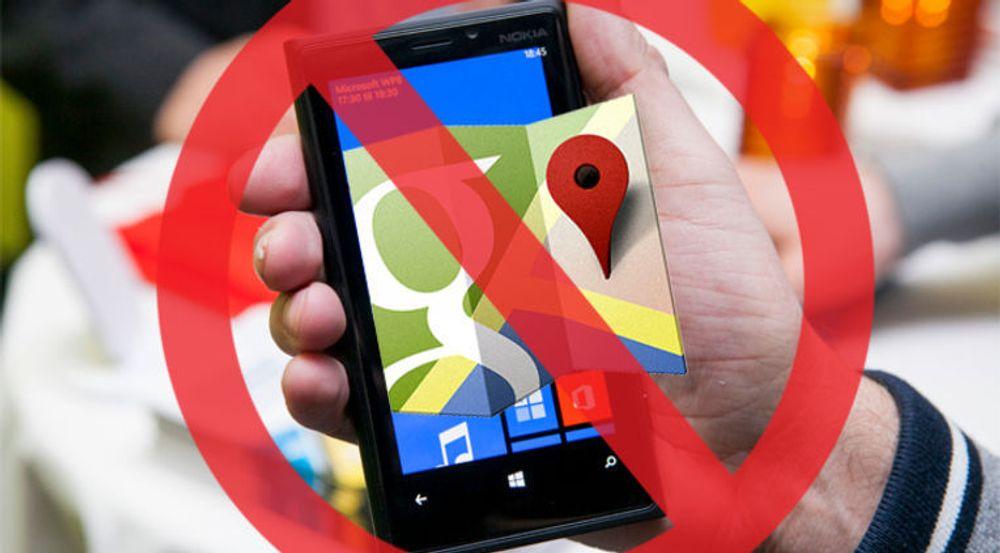 Google innrømmer å ha blokkert adgangen til Google Maps fra Windows Phone-telefoner, men omgjør nå beslutningen.