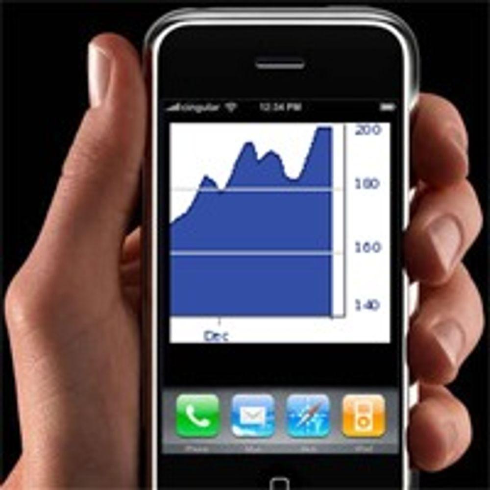 Apple-aksjen brøt 200 dollar-merket
