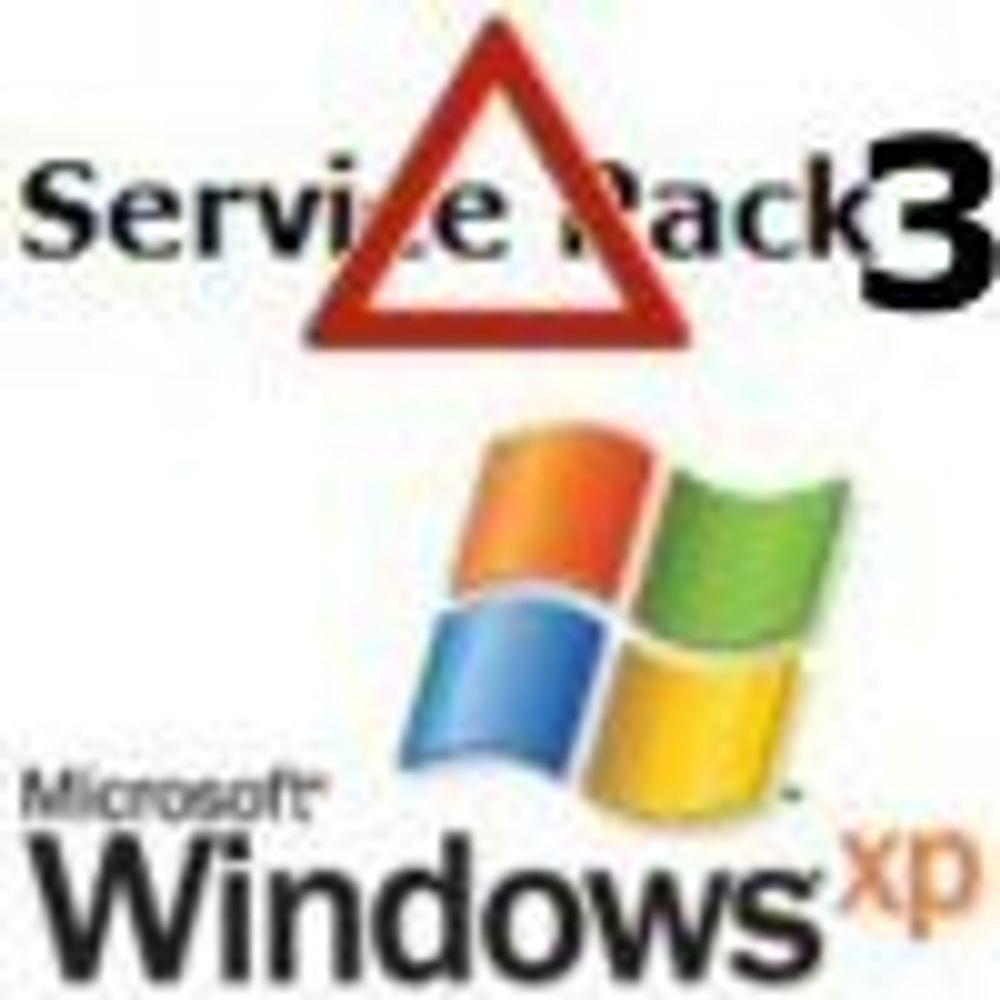 Toner ned betydningen av SP3 til Windows XP