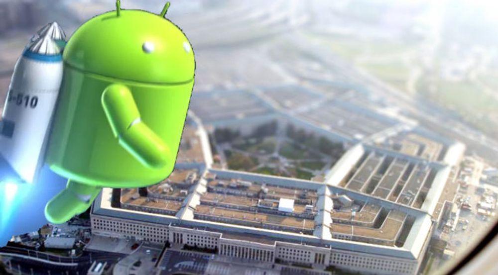 Android er klar til å innta Pentagon. En av grunnene er at systemet distribuers som åpen kildekode, i motsetning til Apple iOS.