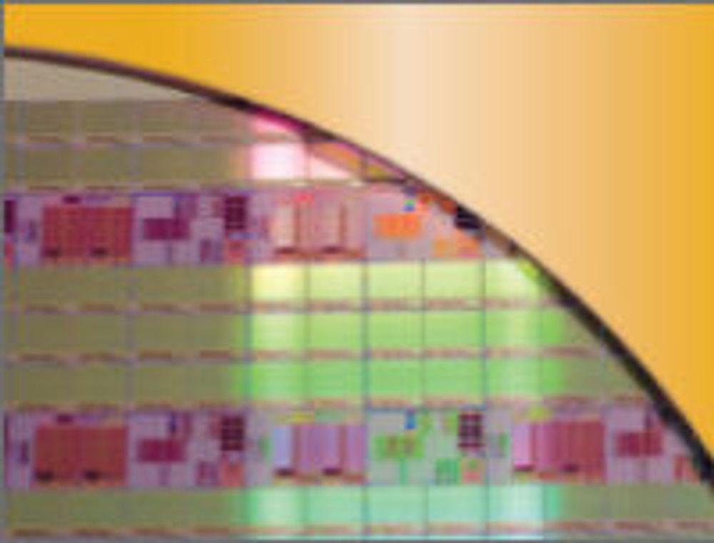 Detalj fra skive med PCM-brikker.