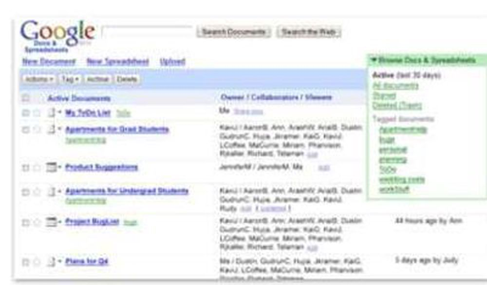 Advarer om bruk av Google Docs