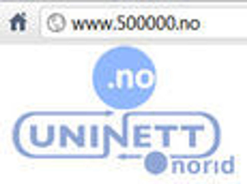 Nå finnes det 500 000 norske domener