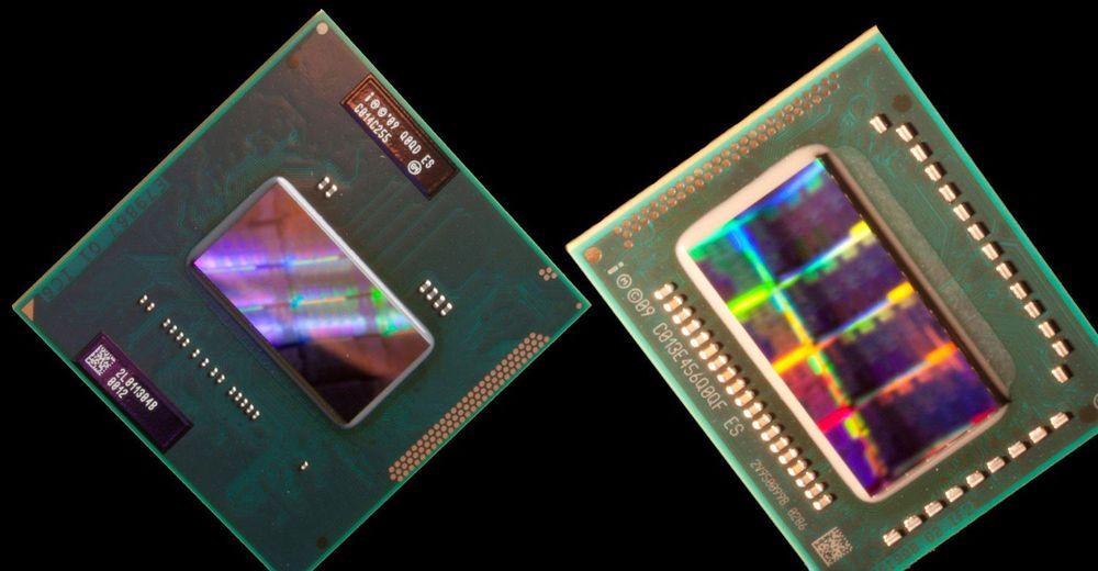 Intel Sandy Bridge-prosessorer for henholdsvis stasjonære og bærbare pc-er.
