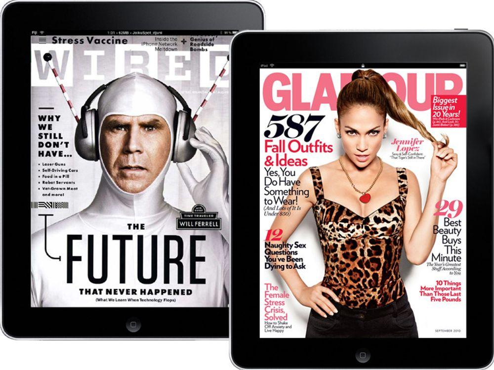 iPad-utgavene vakte oppsikt i starten. Siden har magasinenes digitale opplagstall bare gått én vei, nedover.