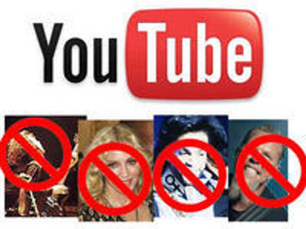 Disse artistene skal vekk fra Youtube