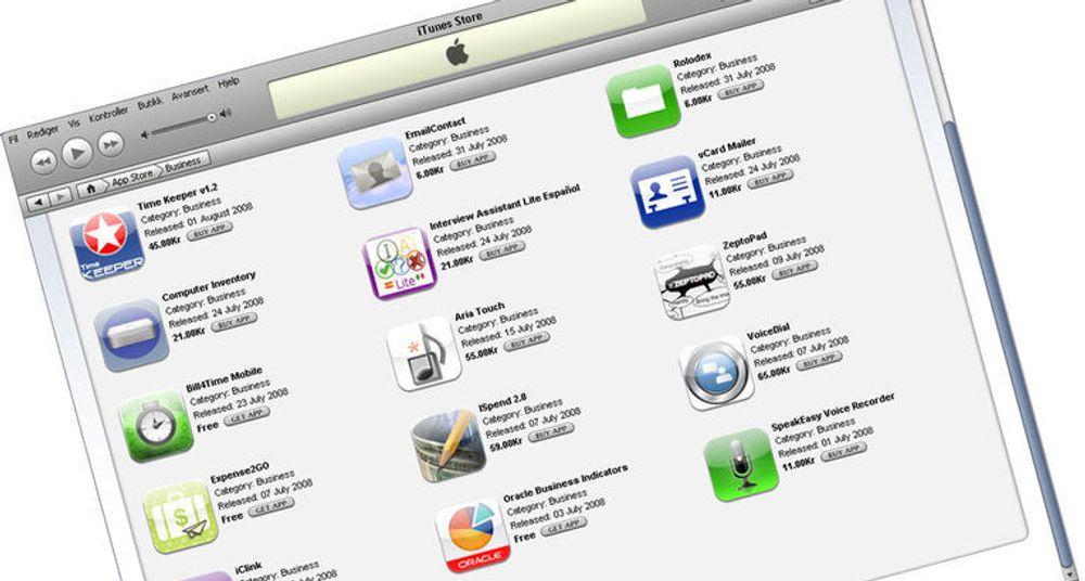 Mange leverandører av forretningssystemer selger programvaren sin gjennom Apple App Store. IT-giganten Oracle er en av dem.