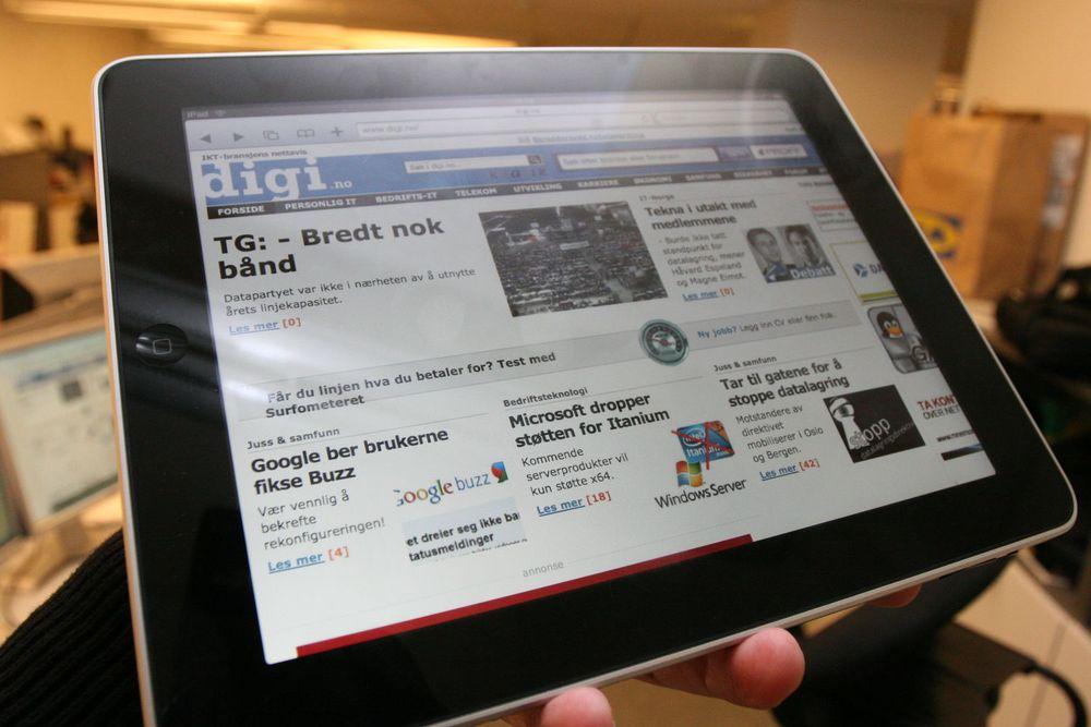 2,7 prosent av alle som har tilgang til internett i Norge har allerede iPad, ifølge TNS Gallup.