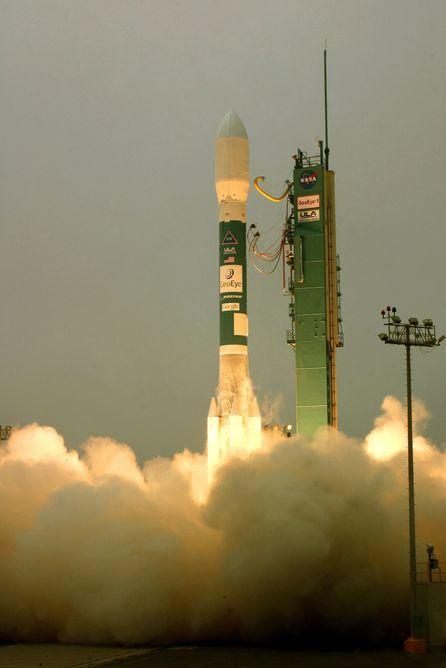 Oppskytning av GeoEye-1-satellitten. Foto:United Launch Alliance