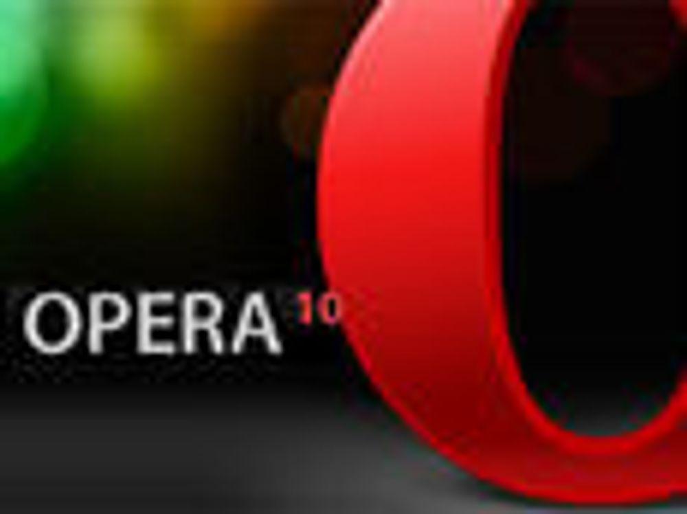 Nå kan Opera 10 lastes ned