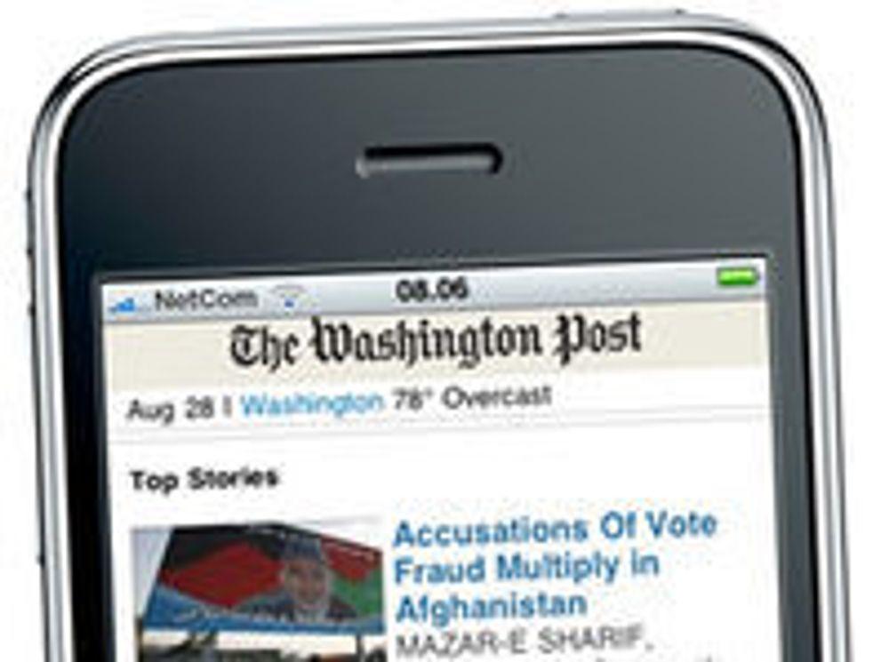 Norsk mobilportal til Washington Post