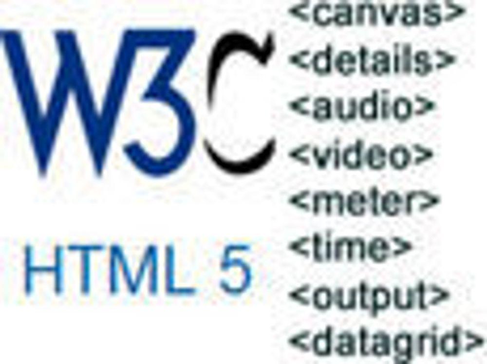 HTML 5-arbeidet krever flere ressurser