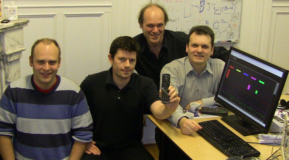Skal gjøre Nokia «smartere». Her et utvalg fra utviklingsteamet i norske Smarterphone (fra v.) Per Kristian Gjermshus, Bjørn Aadland, gründer Egil Kvaleberg og Frank Stevenson.