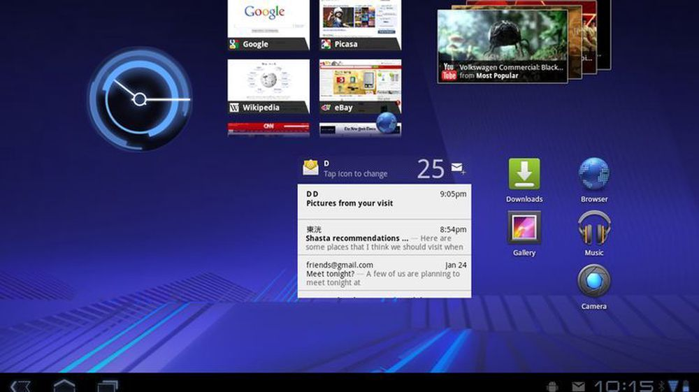 Holo-temaet i Android 3.0