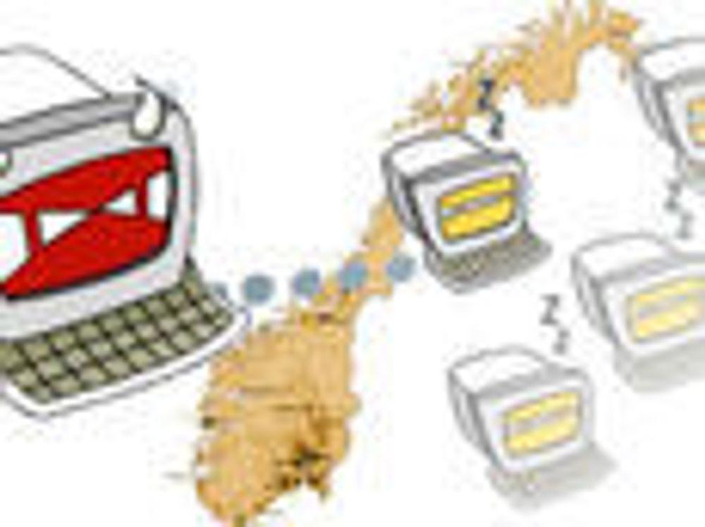 Massivt hacker-angrep mot norske nettsteder