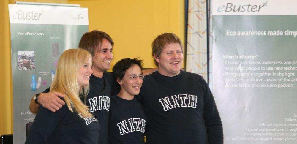 Christian Johannesen, Trude Martinsen, Kristian Sølve Ravndal og Richard Dante fra NITH vant Imagine Cup Norge 2008.