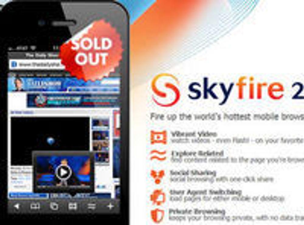 Skyfire til iPhone «utsolgt»