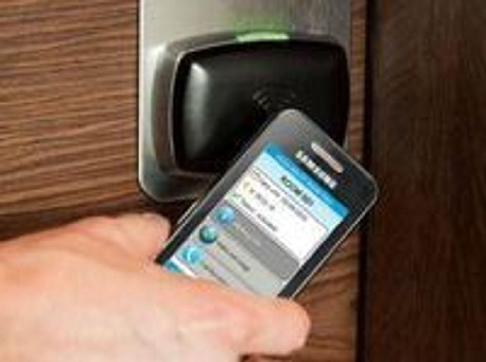 Bruk av digital, NFC-basert hotellromnøkkel.