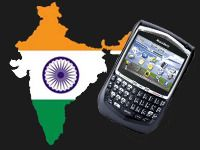 Blackberry gir etter i India