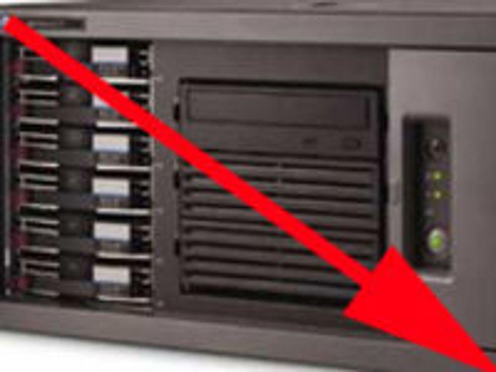 Serversalget tilbake til 2006-nivå