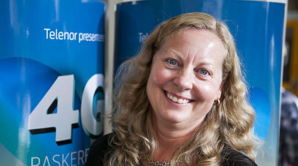 Direktør Berit Svendsen i Telenor Norge lanserte i dag 4G-mobilnett.