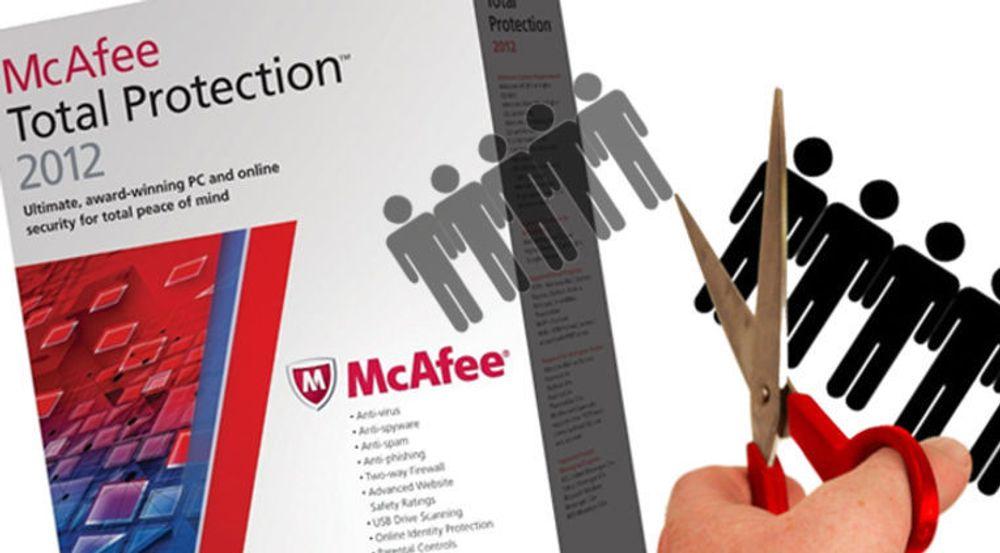 Et dårligere pc-salg og dessuten innebygget antivirus i kommende Windows 8 er forklaringer på at McAfee nå ser seg nødt til å ty til nedbemanninger, ifølge Reuters.