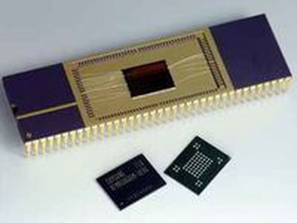 This handout picture released by Samsung electronics shows memory chips dubbed Flex-OneNAND. Samsung Electronics Co., South Koreas largest electronics company, said that it has developed a memory chip whose data transfer speed and storage capacity can be adjusted through software by individual users. AFP PHOTO/HO/Samsung Electronics      RESTRICTED TO EDITORIAL USE (Photo credit should read STR/AFP/Getty Images)