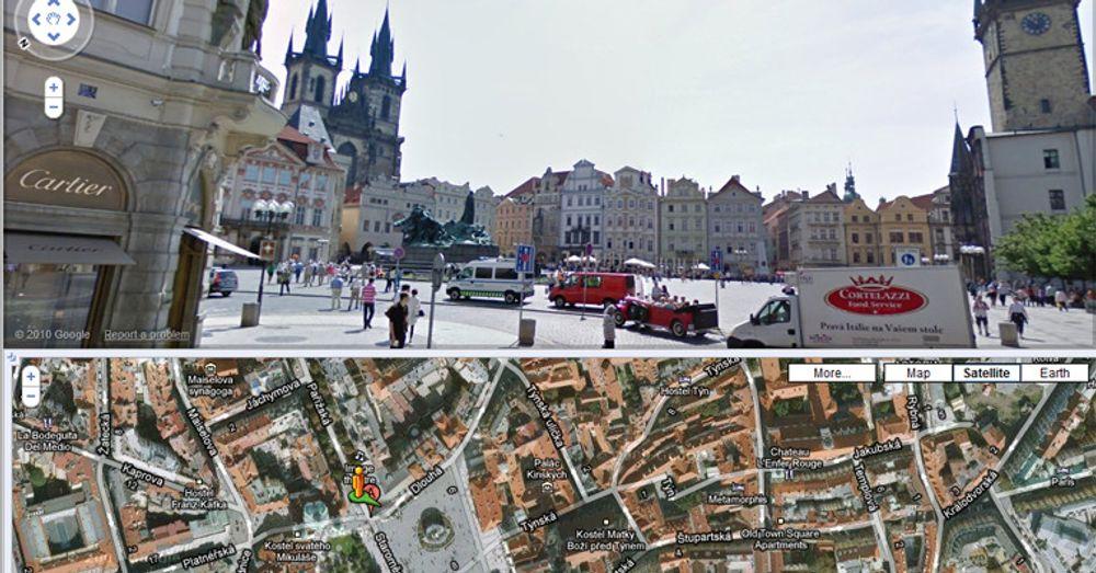 Dekningen av Praha i Google Street View er begrenset, og all videre datasanking er beordret stanset av tsjekkiske personvernmyndigheter.