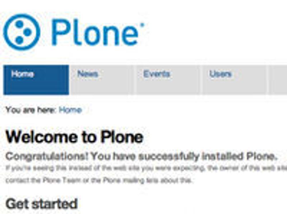 """Plone 4 leveres med et nytt standardtema kalt """"Sunburst"""". Designen skal være nøytral uten å virke kjedelig, ifølge Plone."""