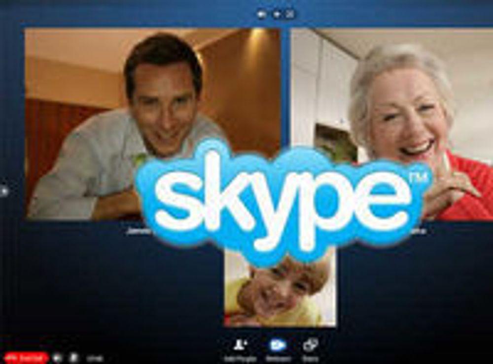 Skype med tiveis videokonferanse